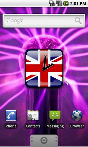 UK Flag Analog Clock Widget