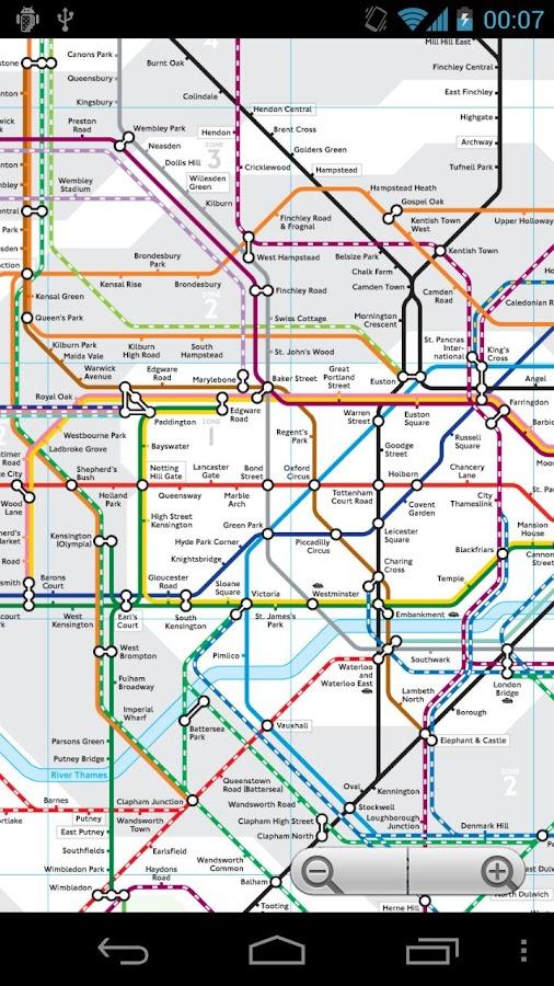 London Tube and Rail Map - screenshot