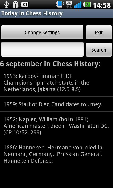 Today in Chess History- screenshot