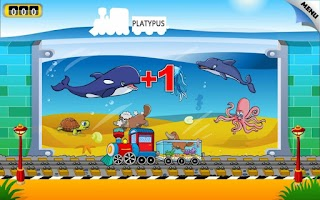 Screenshot of Kids Animal Train - First Word