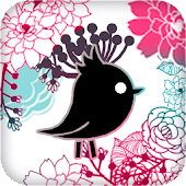 Kakaotalk theme - Flower bird