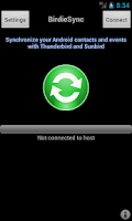 Screenshot of BirdieSync for Thunderbird