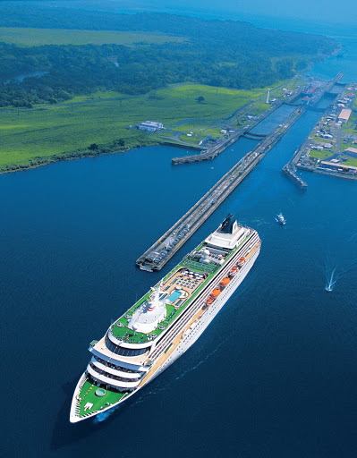 Crystal-Symphony_Panama_Canal - Crystal Symphony will take you through the Panama Canal, one of the seven wonders of the modern world.