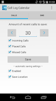Screenshot of Call Log Calendar (Free/Trial)