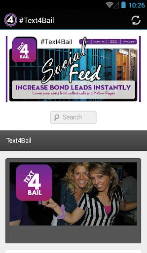 Text4Bail.com social media app