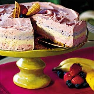 Strawberry Smoothie Ice-Cream Pie.