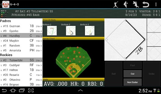 6-4-3 Baseball Scorecard - screenshot thumbnail