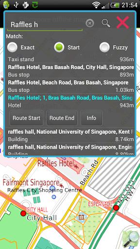 Singapore offline map