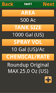 Tank Mix Calculator - screenshot thumbnail