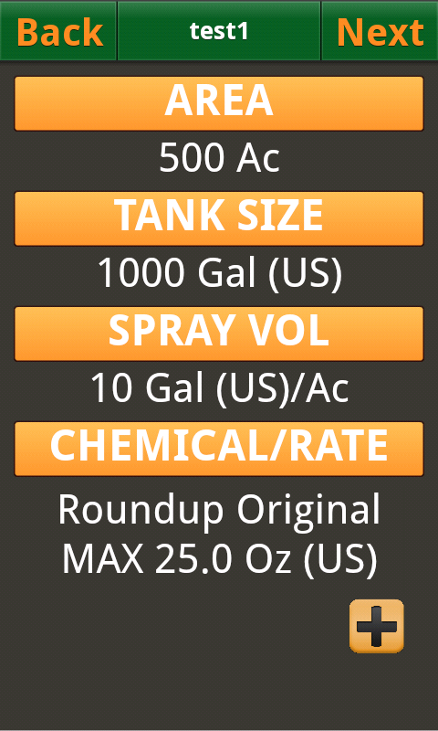 Tank Mix Calculator - screenshot