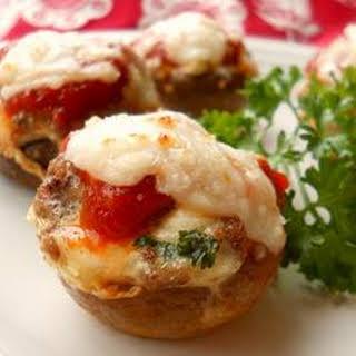 Lasagna-Stuffed Mushrooms.