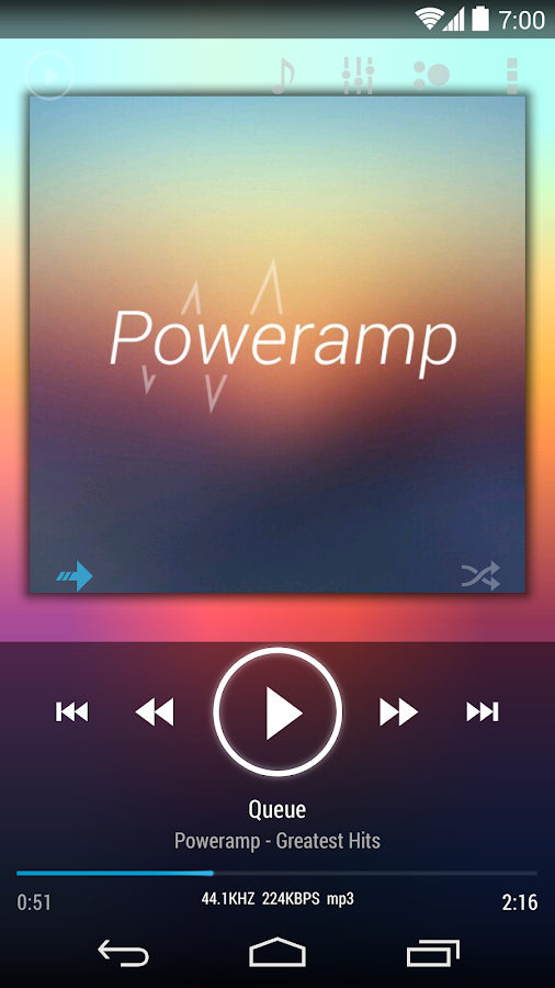 Poweramp skin KK/JB/ICS - screenshot