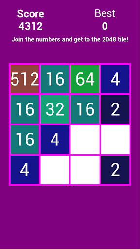 2048 Purple - Puzzle Free Game