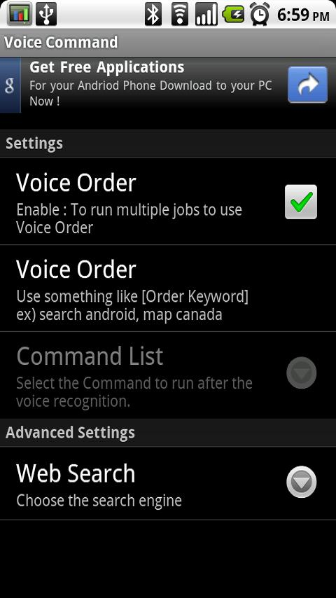 Voice Command- screenshot