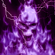 Glowing Purple Lightning Skull
