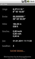 Screenshot of GPS View