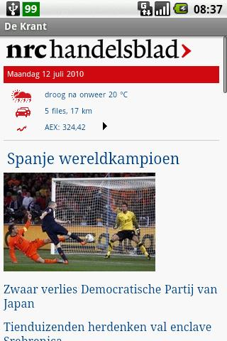 De Krant - screenshot