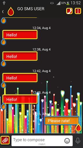 GO短信加强版的色彩空间