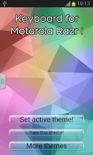 Keyboard for Motorola Razr i- screenshot thumbnail