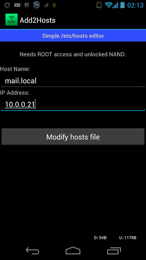 Add2Hosts - screenshot