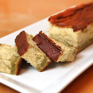 Green Tea and Lemon Honey Marbled Castella (kasutera) Sponge Cake