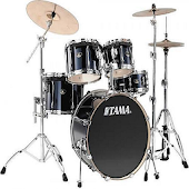 Garage drum set musical drums