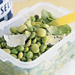 Spring Pea and Bean Salad with Shaved Pecorino Cheese