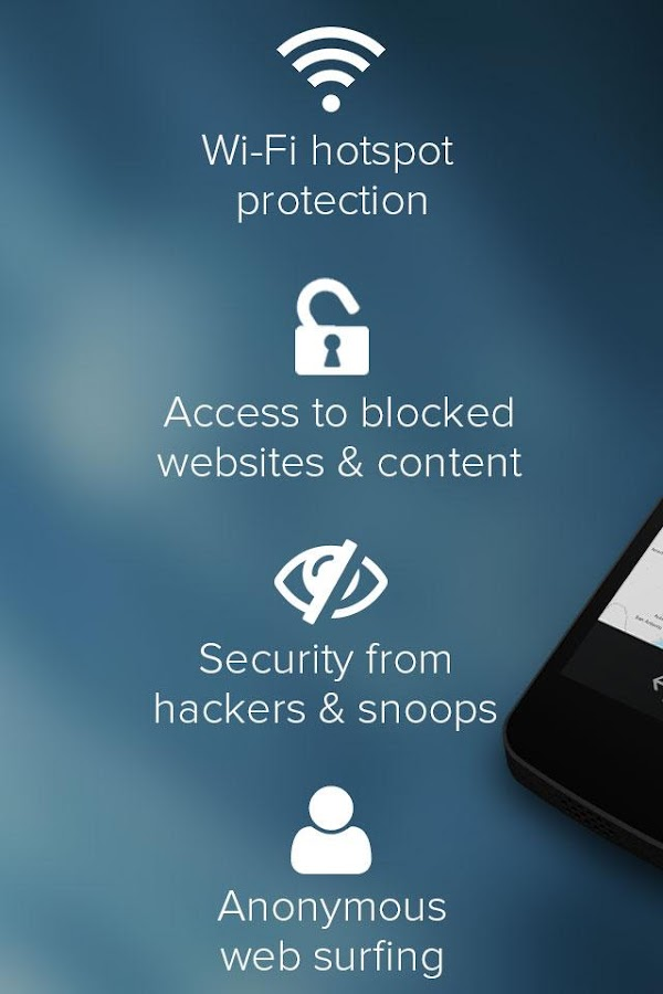 SurfEasy VPN for Android - screenshot