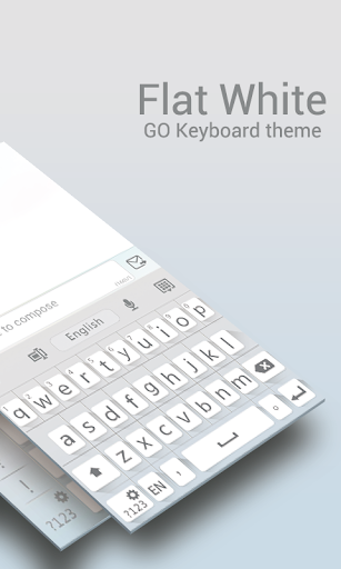 GO Keyboard Flat White Theme