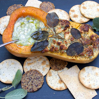 BLUE CHEESE and SAGE ROASTED BUTTERNUT SQUASH APPETIZER.