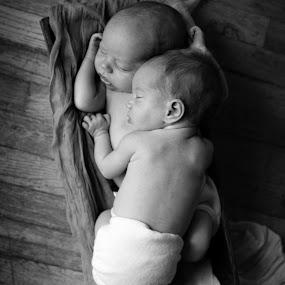 In pairs by Jeanine Thurston - Babies & Children Children Candids ( babies, multiples, newborns, twins )