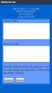 LAS Safety Survey- screenshot thumbnail