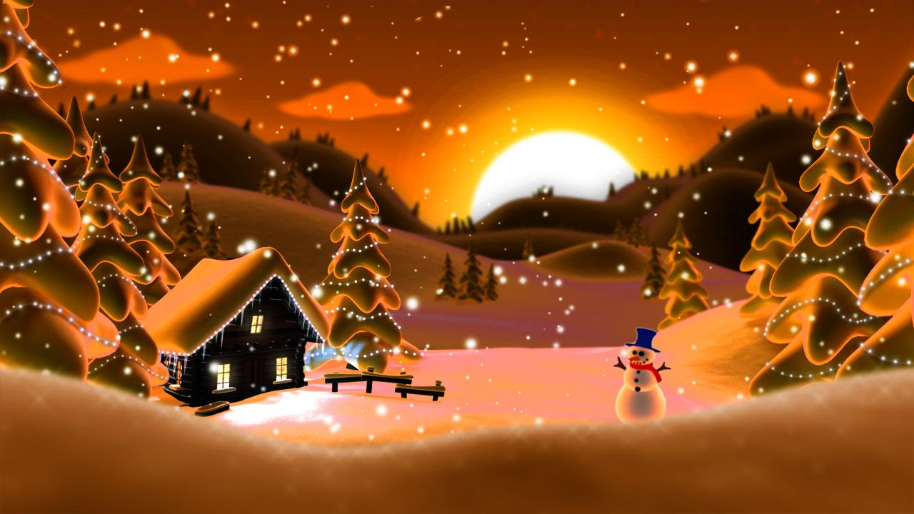 Winter Snow Cartoon LWP PRO - screenshot