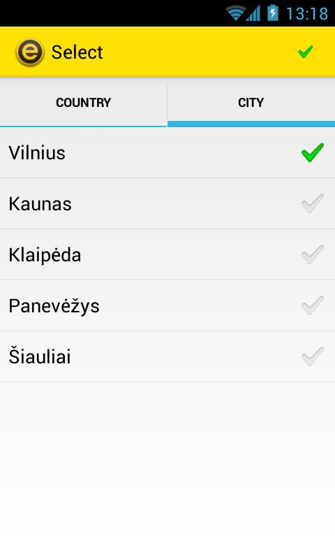eTAKSI - get taxi in Lithuania - screenshot