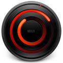 MIUI Spiral RED Analog Clock icon