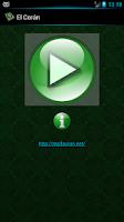 Screenshot of The Quran recitation