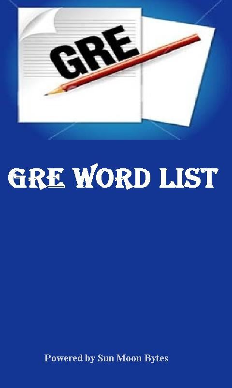 GRE Word List - screenshot