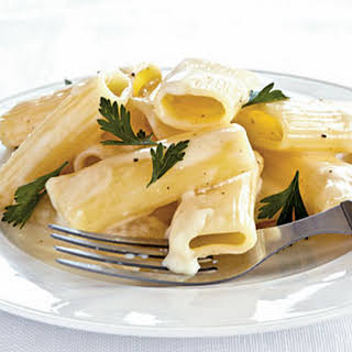 Creamy Rigatoni with Gruyère and Brie.