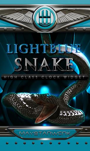 lightblue snake clock widget