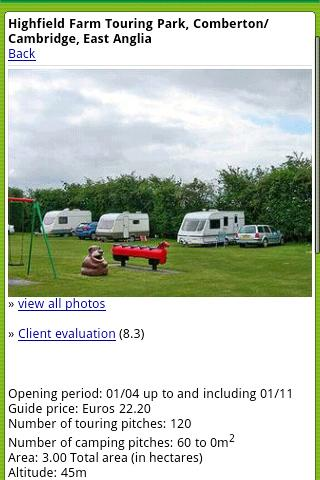 ACSI Eurocampings - screenshot