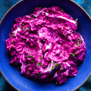 Beet Yogurt with Herbs