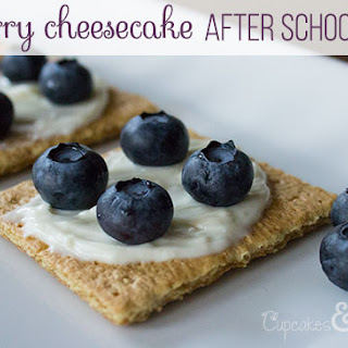 Blueberry Cheesecake After School Snack