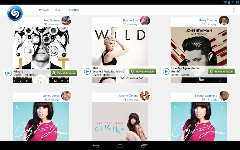 Screenshots for Shazam for Android