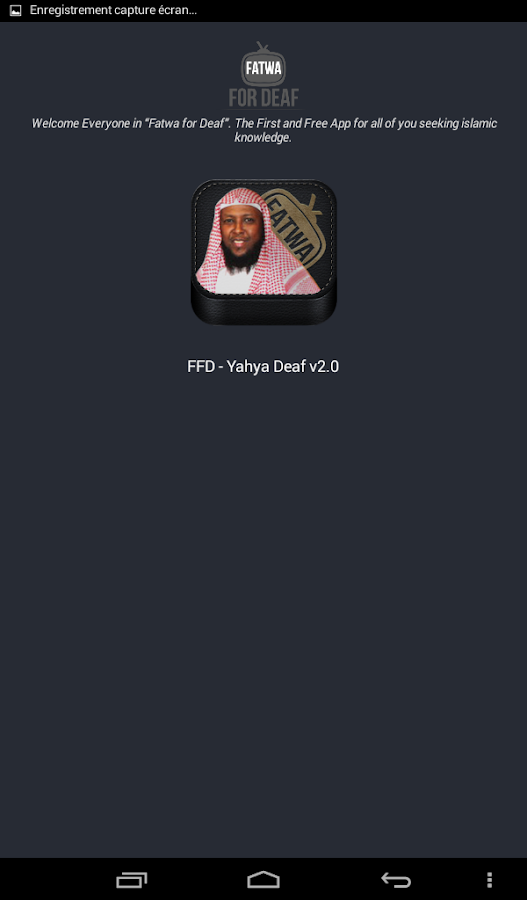 FFD - Fatwa for Deaf- screenshot