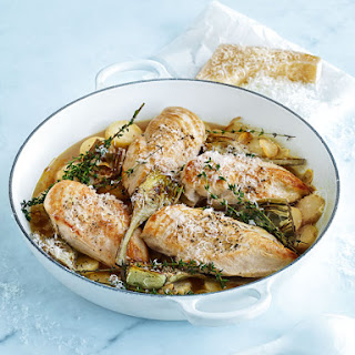 Chicken In White Wine With Lemon Potatoes