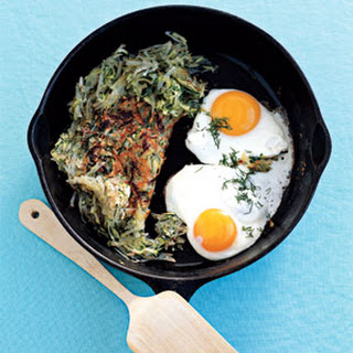 Spring Hash with Eggs Sunny-Side Up.