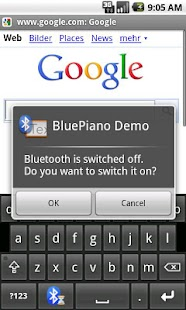 BluePiano Bluetooth Wedge Demo - screenshot thumbnail