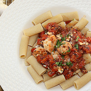 Shrimp and Feta Rigatoni