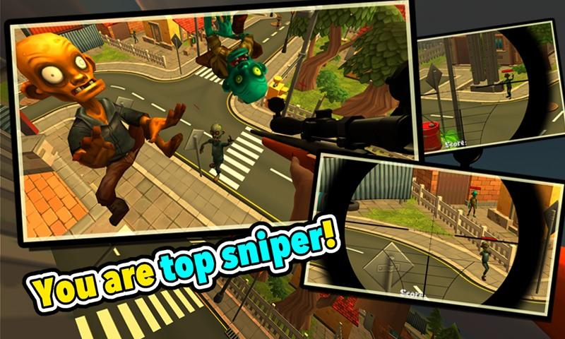 Zombie Town Sniper Shooting- screenshot