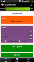 Screenshot of Calorie Counter Simple PRO